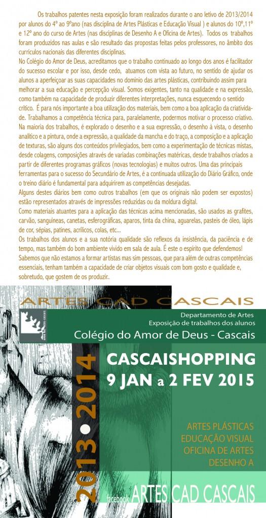 cartaz Shopping c texto 2015